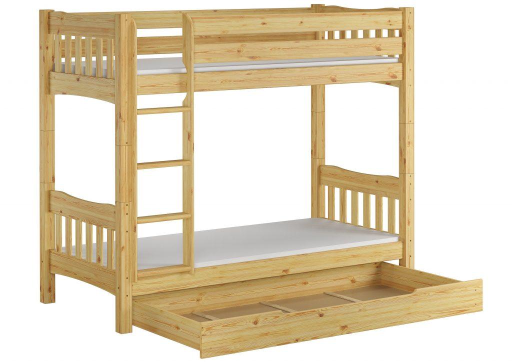 Gyerekszobába fenyő emeletes ágy